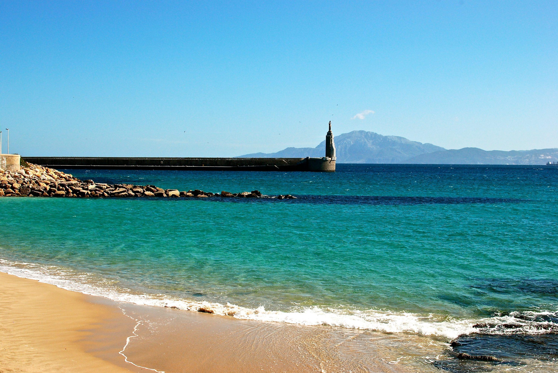 Aguas de la Playa Chica de Tarifa