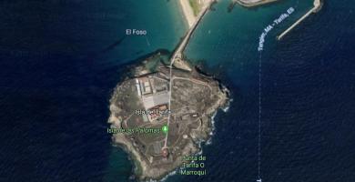 Imagen aérea de la Isla de las Palomas