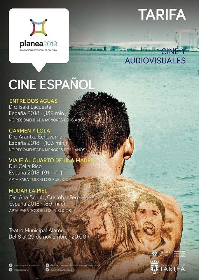 Cartel del ciclo de cine Español en Tarifa
